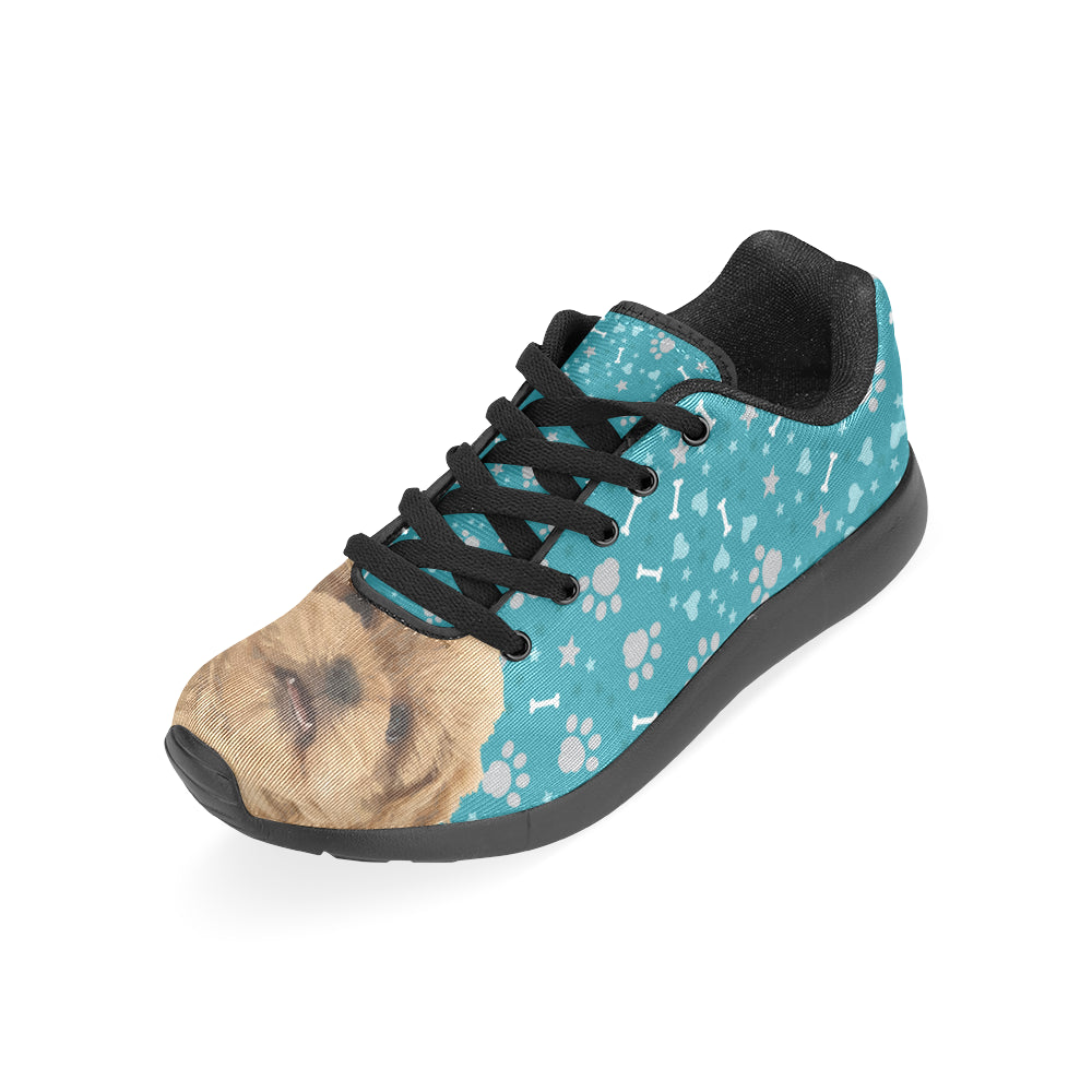 Peekapoo Dog Black Sneakers for Men - TeeAmazing