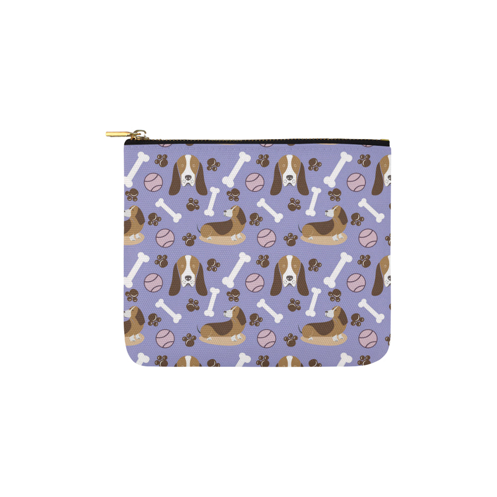 Basset Hound Pattern Carry-All Pouch 6x5 - TeeAmazing