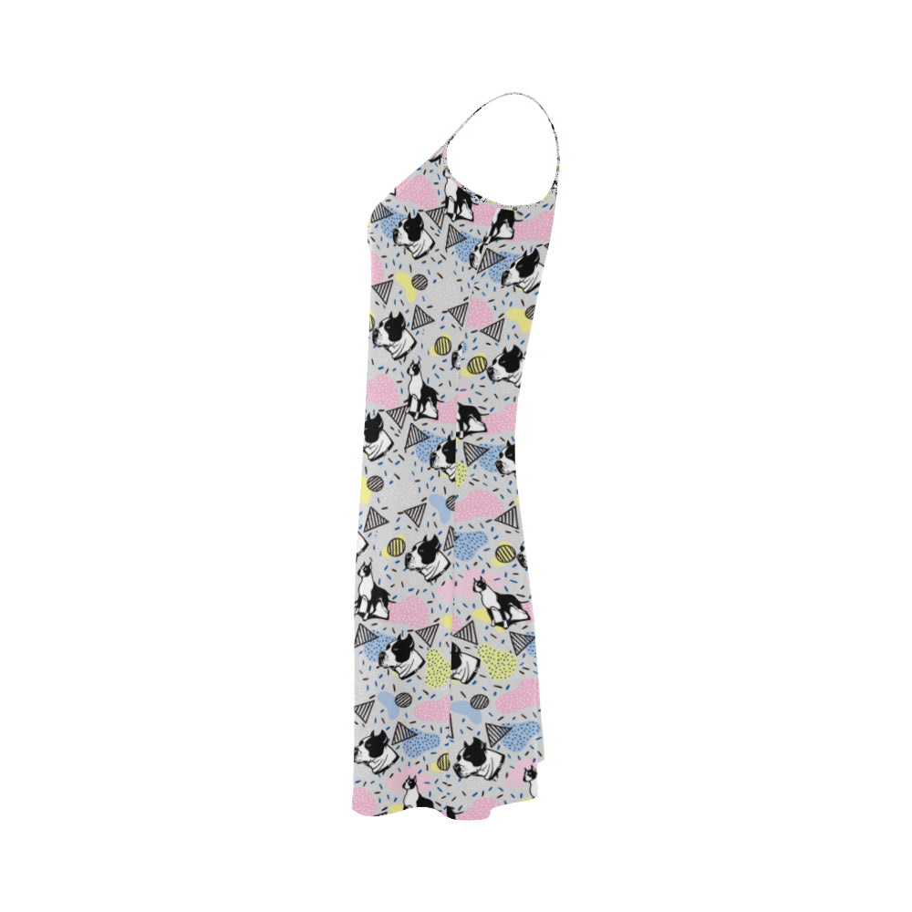 American Staffordshire Terrier Pattern Alcestis Slip Dress - TeeAmazing