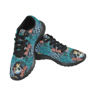 Sugar Skull Tattoo Black Sneakers for Men - TeeAmazing