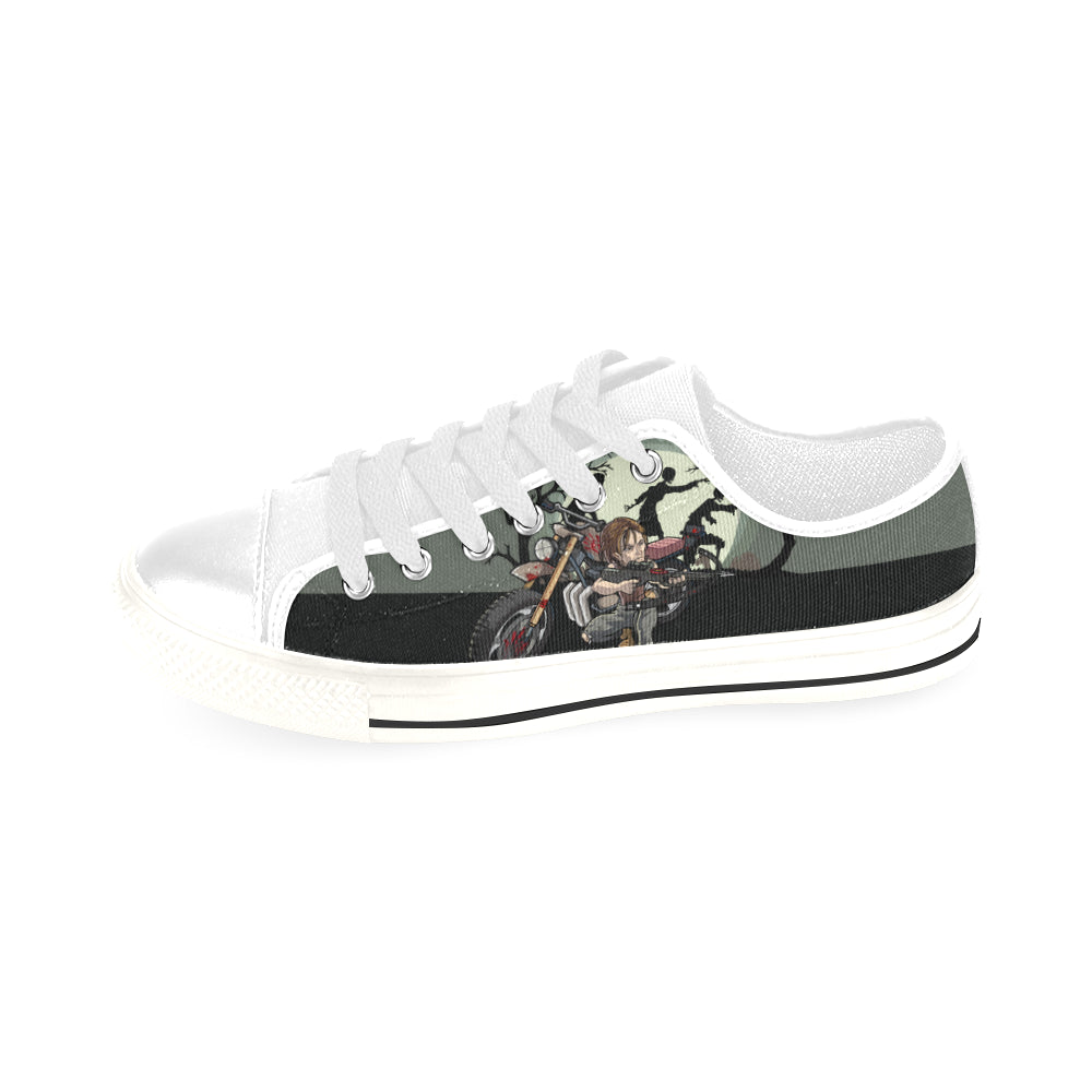 Daryl Dixon White Men's Classic Canvas Shoes/Large Size - TeeAmazing