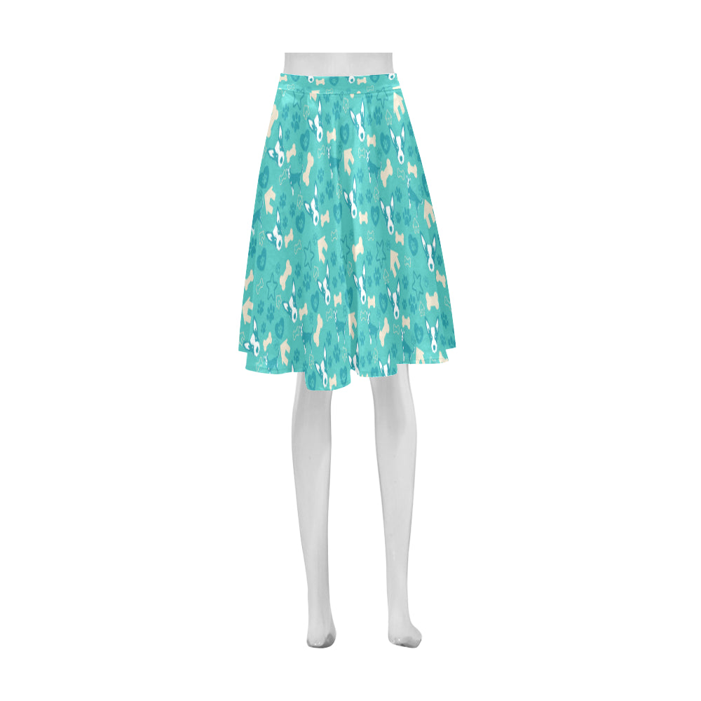 Australian Cattle Dog Pattern Athena Women's Short Skirt - TeeAmazing