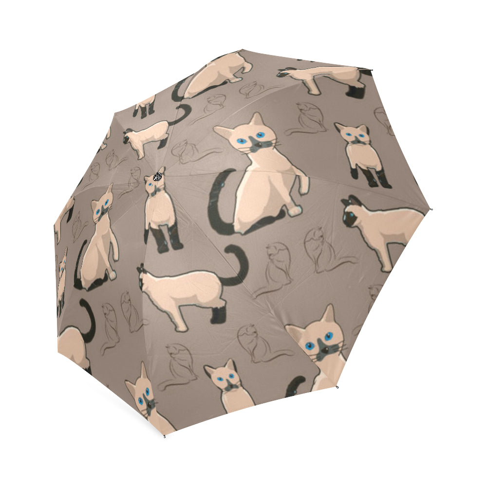 Tonkinese Cat Foldable Umbrella - TeeAmazing