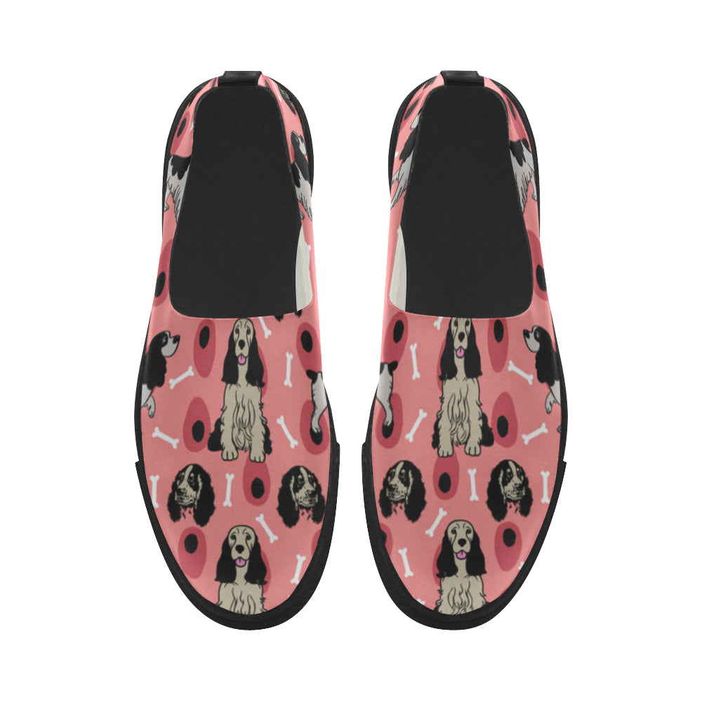 English Springer Spaniels Apus Slip-on Microfiber Women's Shoes - TeeAmazing