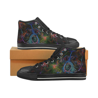 Staffordshire Bull Terrier Glow Design Black High Top Canvas Shoes for Kid - TeeAmazing