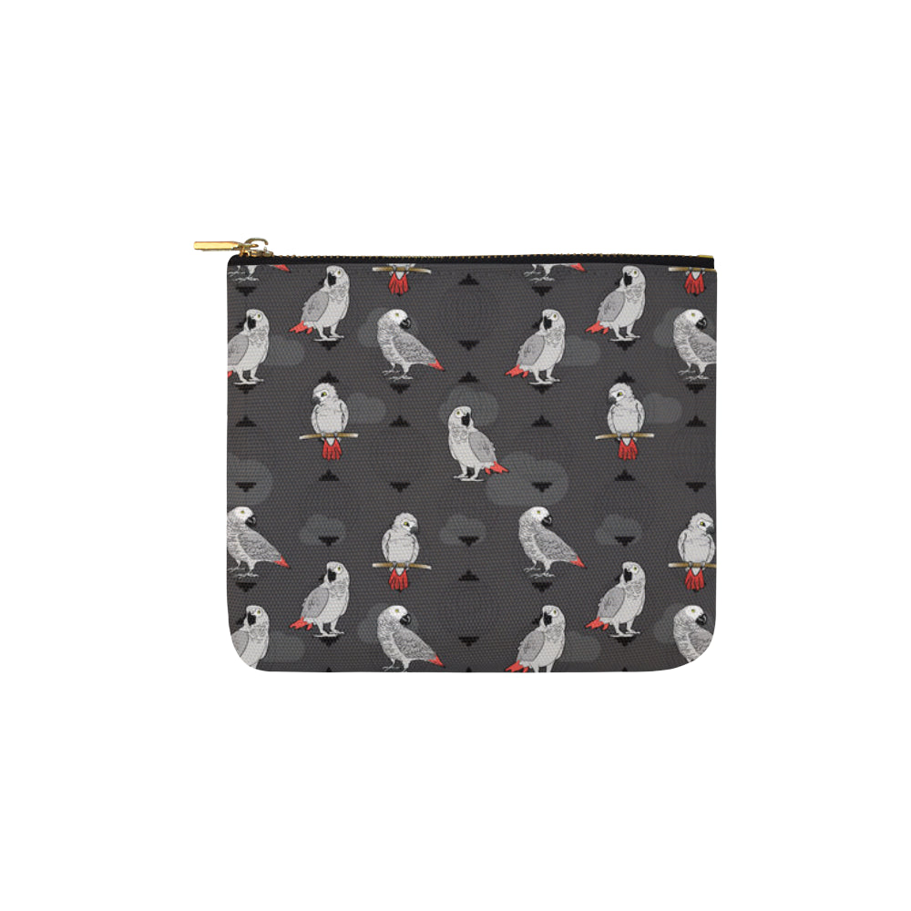 African Greys Carry-All Pouch 6x5 - TeeAmazing