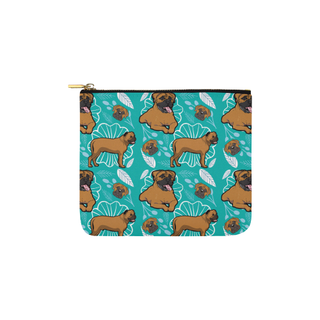 Bullmastiff Flower Carry-All Pouch 6''x5'' - TeeAmazing