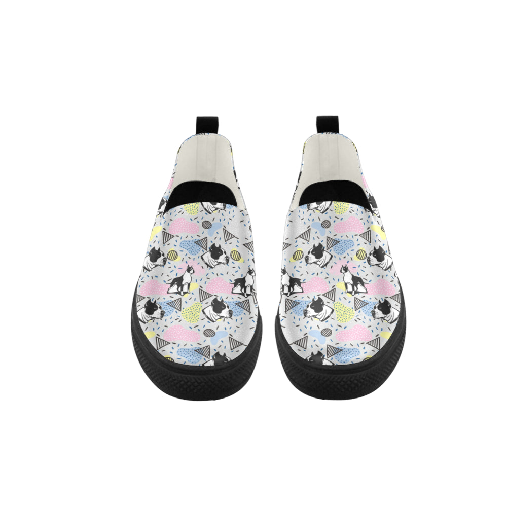 American Staffordshire Terrier Pattern Apus Slip-on Microfiber Women's Shoes - TeeAmazing