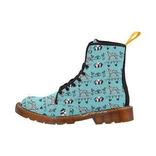 Dalmatian Pattern Black Martin Boots For Women - TeeAmazing