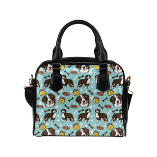 Bernese Mountain Pattern Shoulder Handbag - TeeAmazing