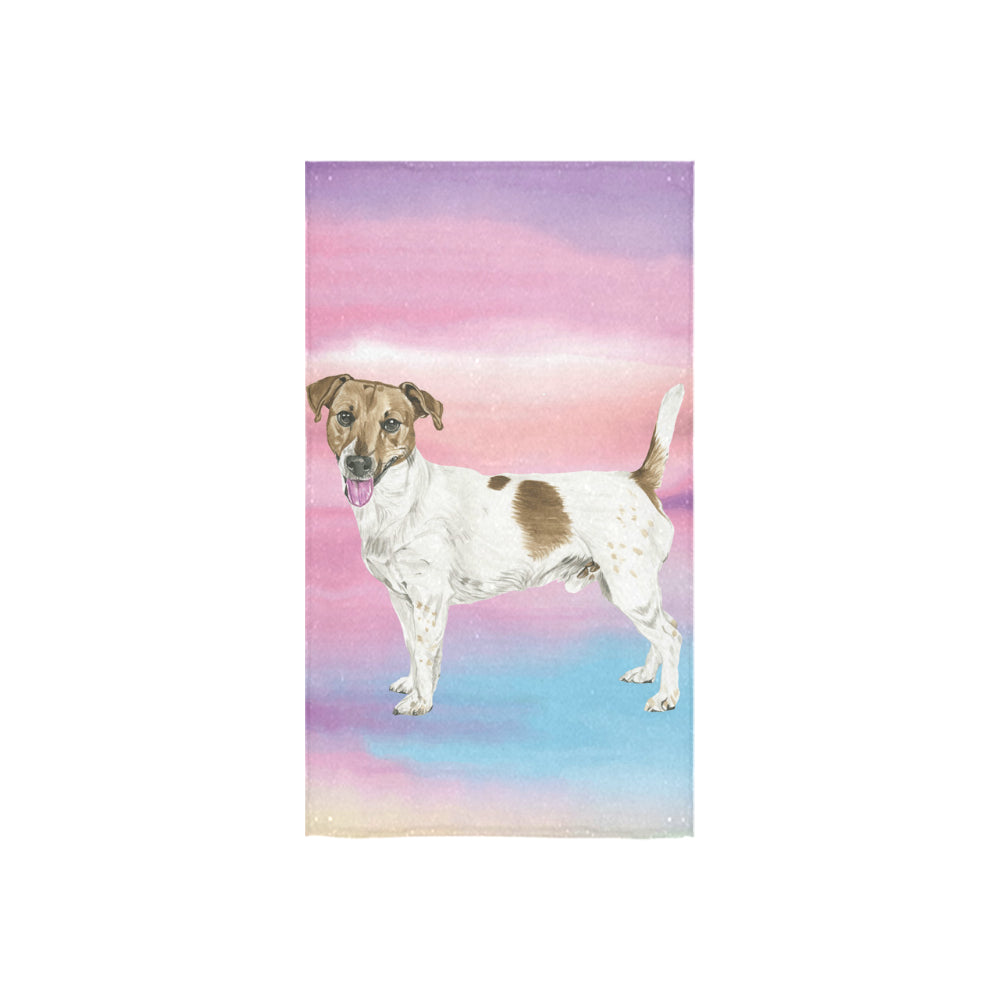 "Jack Russell Terrier Water Colour No.1 Custom Towel 16""x28"" - TeeAmazing"
