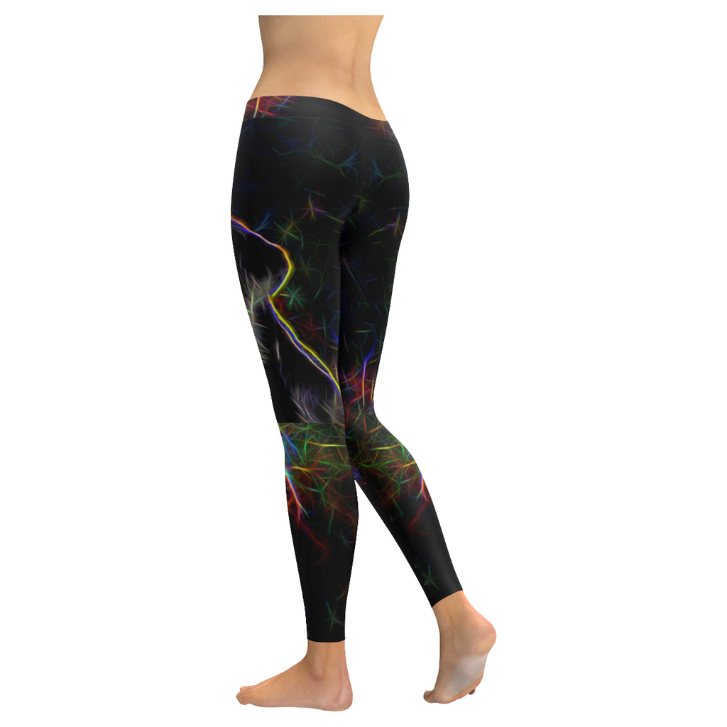 Lab Glow Design 3 Low Rise Leggings (Invisible Stitch) (Model L05) - TeeAmazing