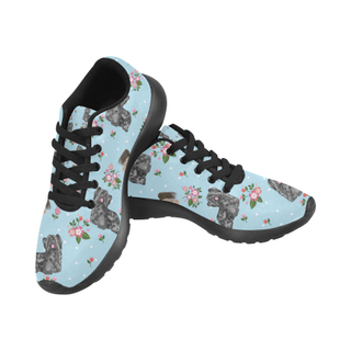 Skye Terrier Flower Black Sneakers Size 13-15 for Men - TeeAmazing