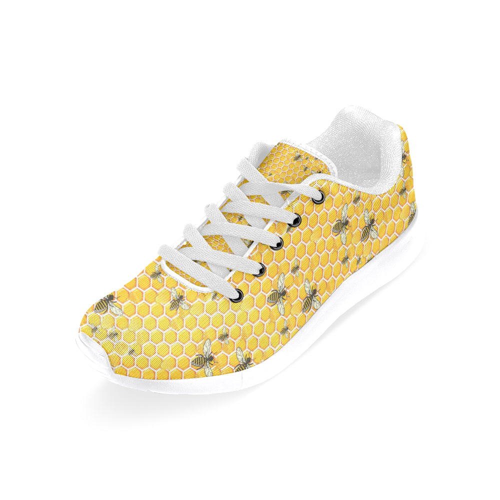 Bee White Sneakers for Men - TeeAmazing