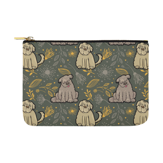 Briard Flower Carry-All Pouch 12.5''x8.5'' - TeeAmazing