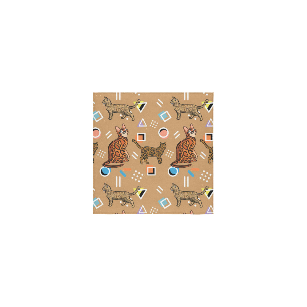 Bengal Cat Square Towel 13x13 - TeeAmazing
