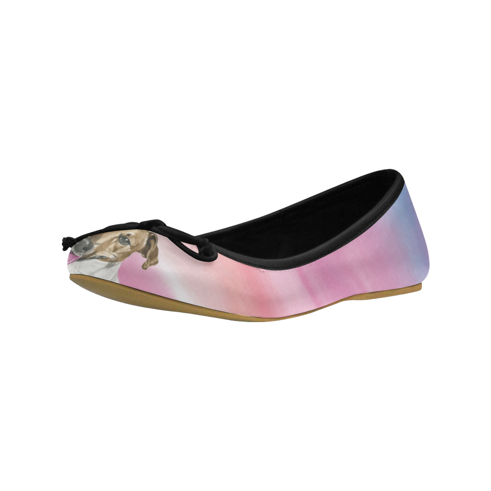 Jack Russell Terrier Water Colour No.1 Juno Ballet Pumps - TeeAmazing