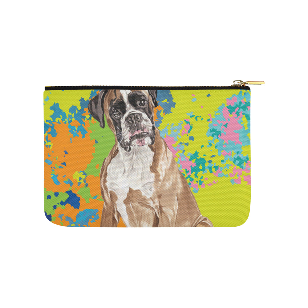 Boxer Water Colour No.2 Carry-All Pouch 9.5x6 - TeeAmazing