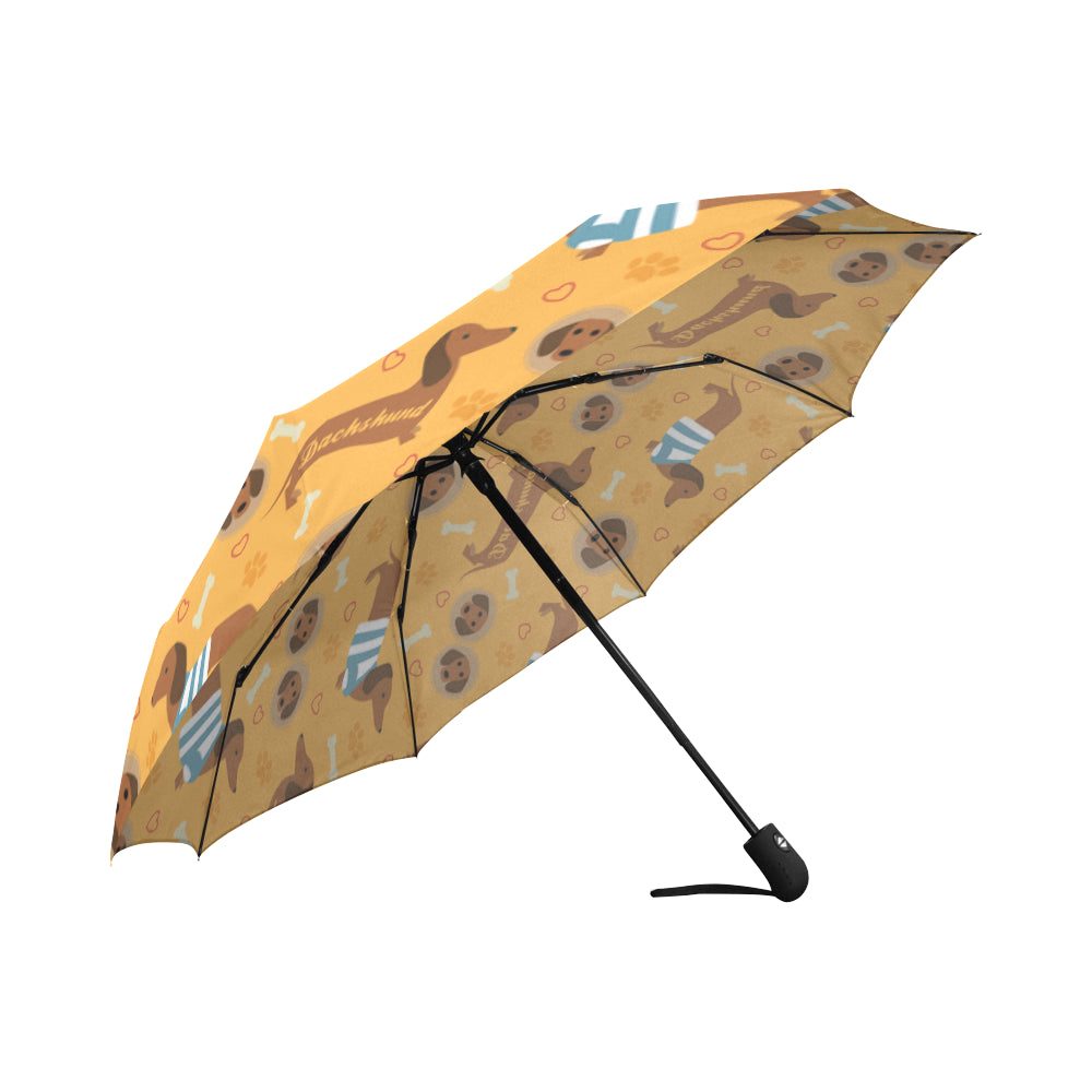 Dachshund Pattern Auto-Foldable Umbrella - TeeAmazing