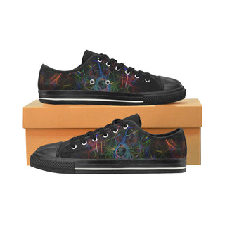 Staffordshire Bull Terrier Glow Design Black Low Top Canvas Shoes for Kid - TeeAmazing
