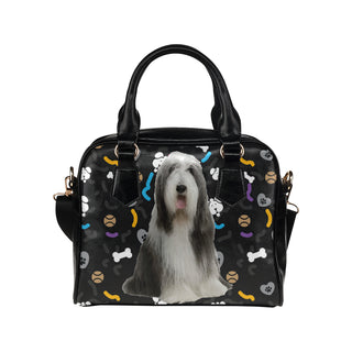 Bearded Collie Dog Shoulder Handbag - TeeAmazing