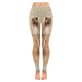 Afghan Hound Low Rise Leggings (Model L05) - TeeAmazing