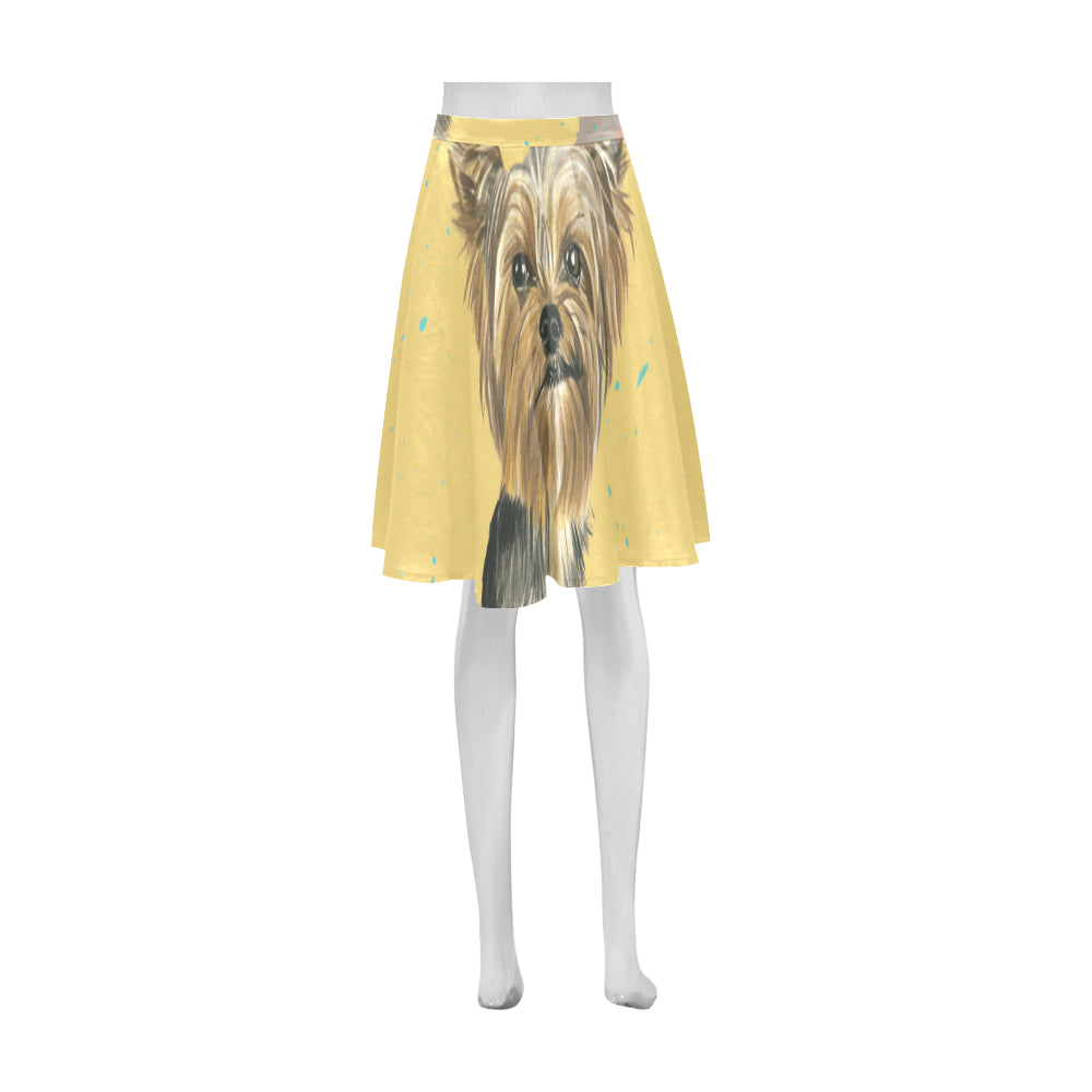 Yorkshire Terrier Water Colour No.1 Athena Women's Short Skirt - TeeAmazing
