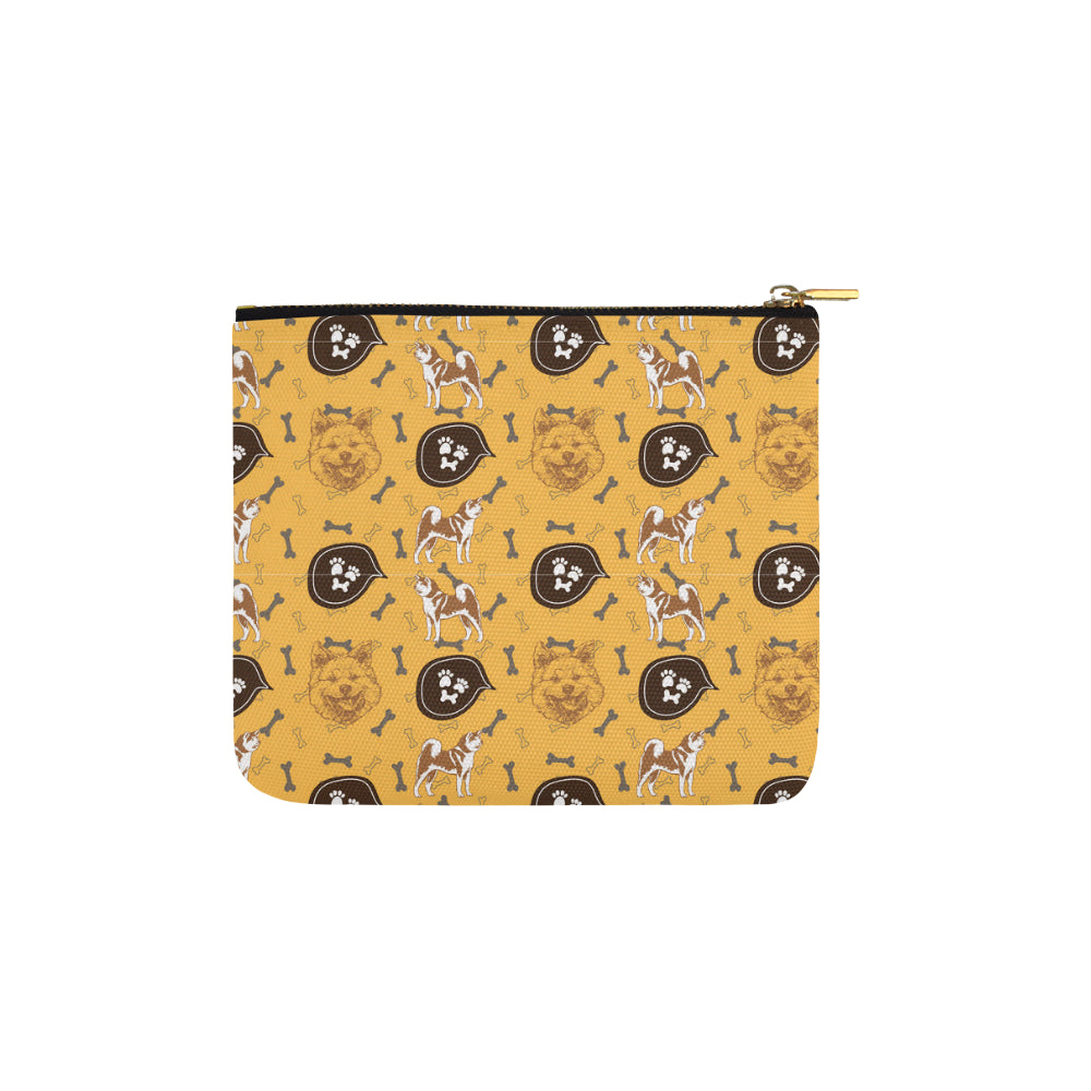 Akita Pattern Carry-All Pouch 6x5 - TeeAmazing