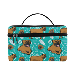 Bullmastiff Flower Cosmetic Bag/Large - TeeAmazing