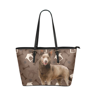 Australian Kelpie Dog Leather Tote Bag/Small - TeeAmazing