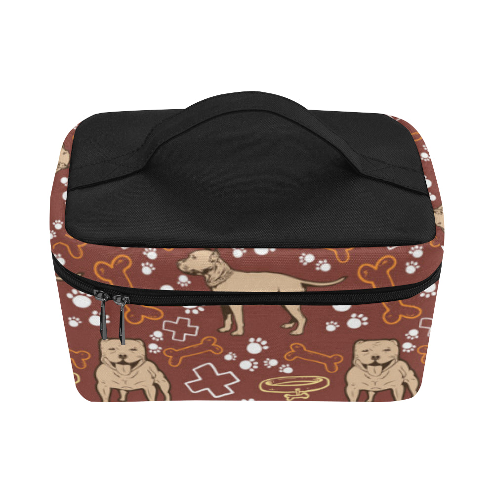 Staffordshire Bull Terrier Pettern Cosmetic Bag/Large - TeeAmazing