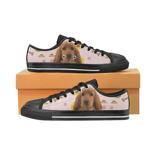 English Cocker Spaniel Black Men's Classic Canvas Shoes - TeeAmazing