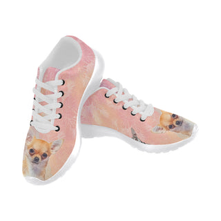 Chihuahua Lover White Sneakers for Women - TeeAmazing