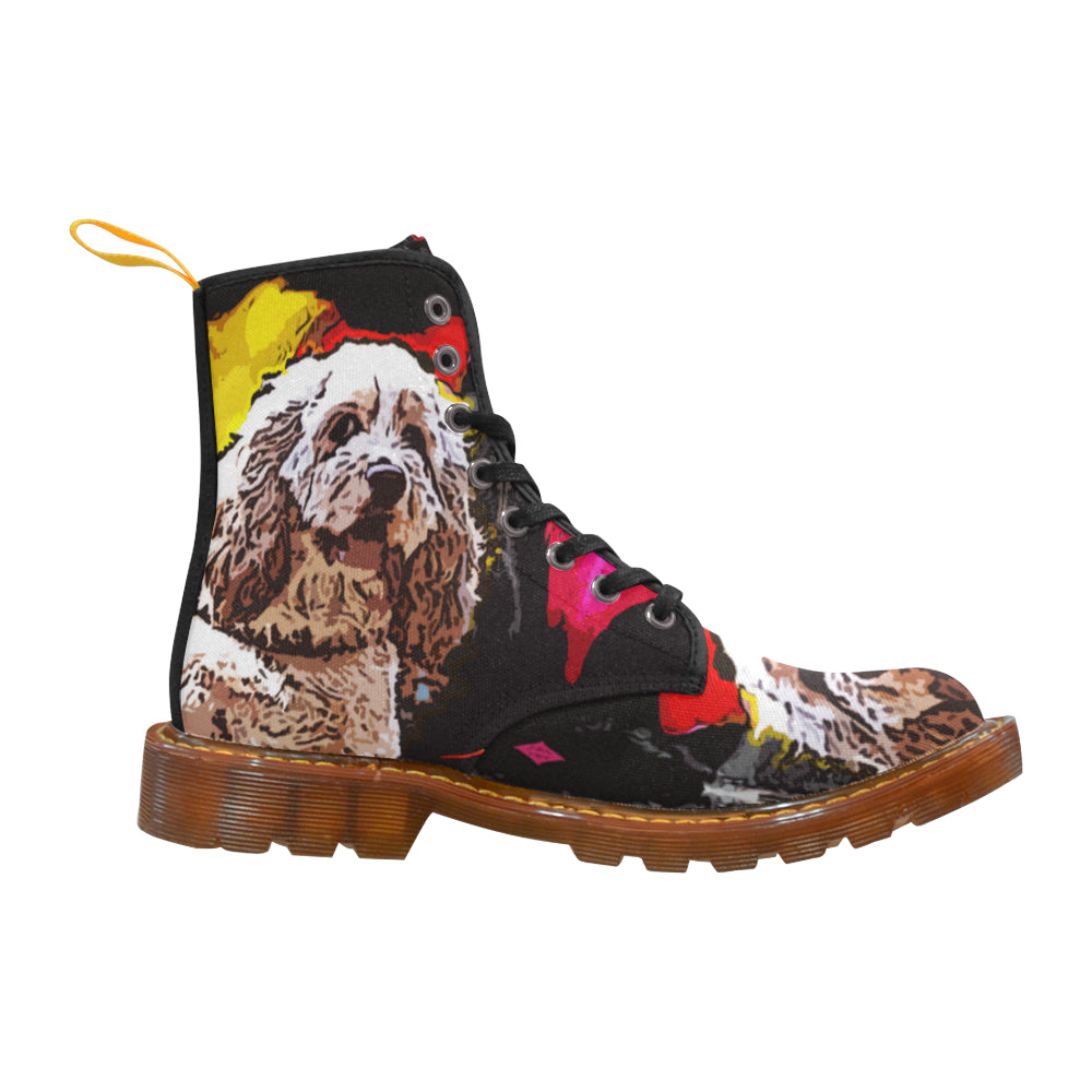American Cocker Spaniel Black Boots For Men - TeeAmazing