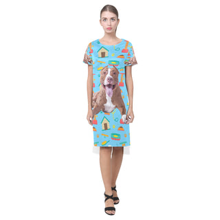 Pit bull Short Sleeves Casual Dress - TeeAmazing