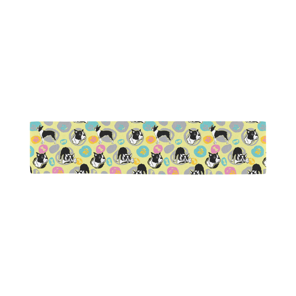 Boston Terrier Pattern Sports Scarves 14x62 - TeeAmazing