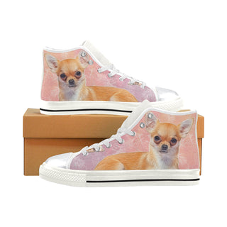 Chihuahua Lover White High Top Canvas Women's Shoes/Large Size - TeeAmazing