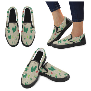 Gardening Black Women's Slip-on Canvas Shoes - TeeAmazing