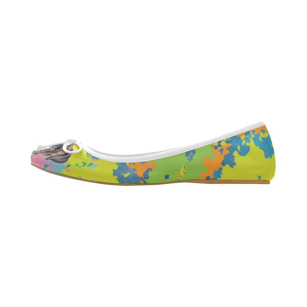 Boxer Water Colour No.2 Juno Ballet Pumps - TeeAmazing