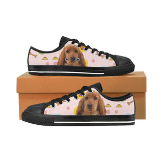 English Cocker Spaniel Black Men's Classic Canvas Shoes/Large Size - TeeAmazing
