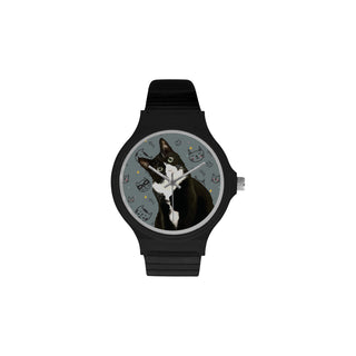 Tuxedo Cat Unisex Round Plastic Watch - TeeAmazing
