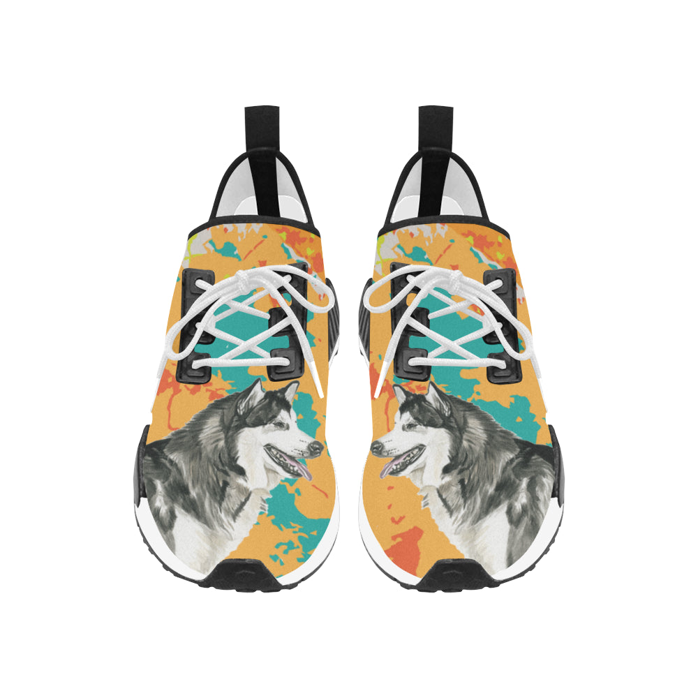 Alaskan Malamute Water Colour No.2 Men's Draco Running Shoes - TeeAmazing