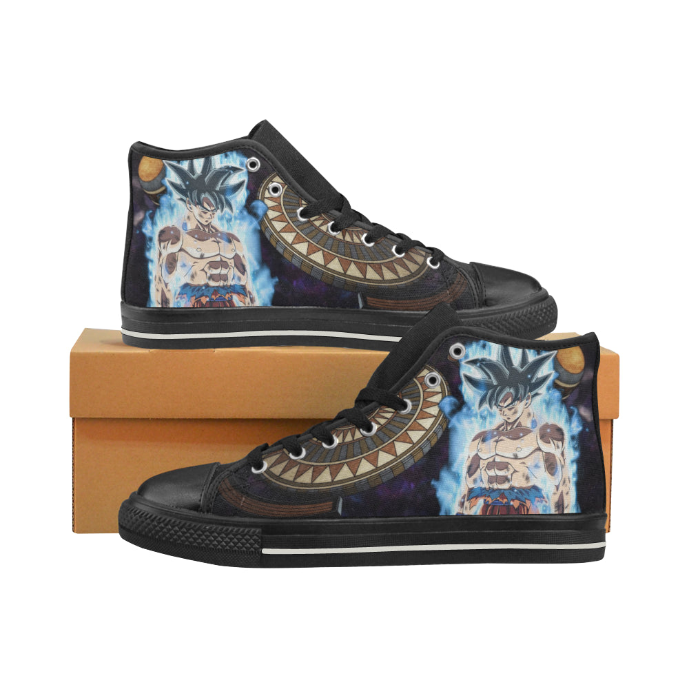 Goku Limit Breaker Black Men s Classic High Top Canvas Shoes - DBZ Shoes -  TeeAmazing 9b812bf8a