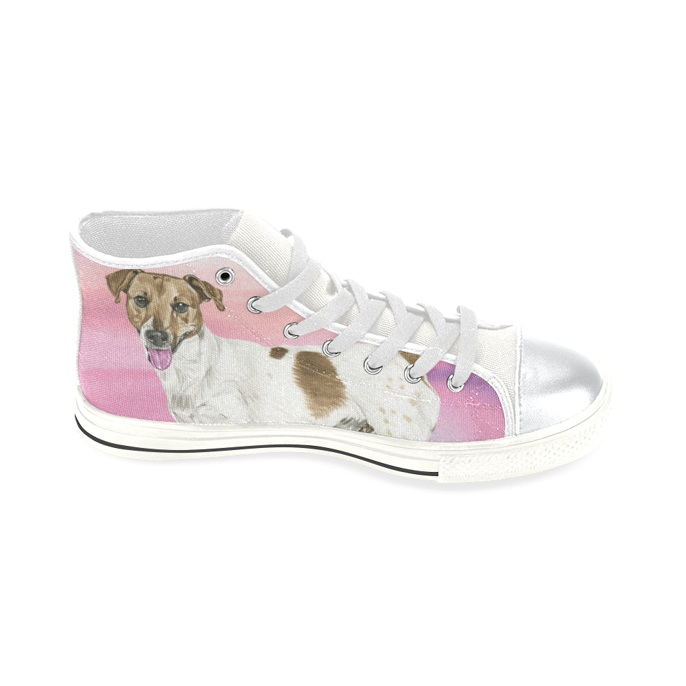 537d4a319ab ... Jack Russell Terrier Water Colour No.1 White High Top Canvas Women s  Shoes Large ...