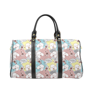 Poodle Pattern New Waterproof Travel Bag/Small (Model 1639) - TeeAmazing