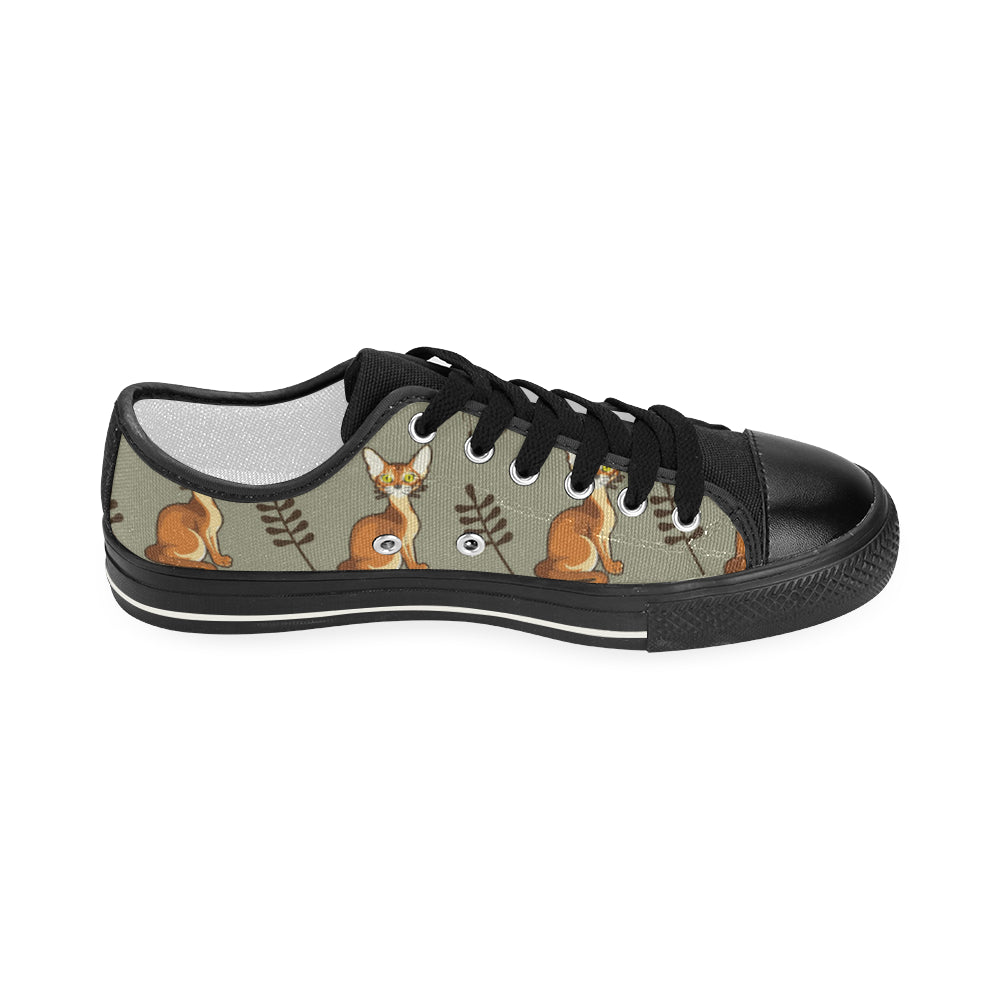 Abyssinian Black Women's Classic Canvas Shoes (Model 018) - TeeAmazing