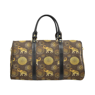 Elephant and Mandalas New Waterproof Travel Bag/Small - TeeAmazing