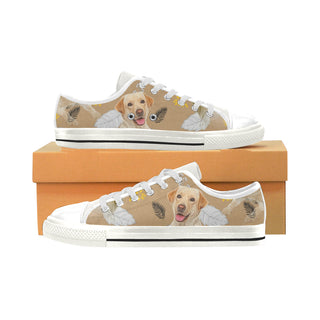 Labrador Retriever Lover White Low Top Canvas Shoes for Kid