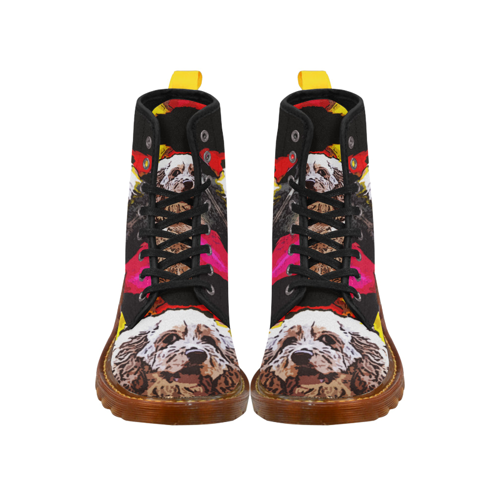American Cocker Spaniel Black Boots For Women - TeeAmazing