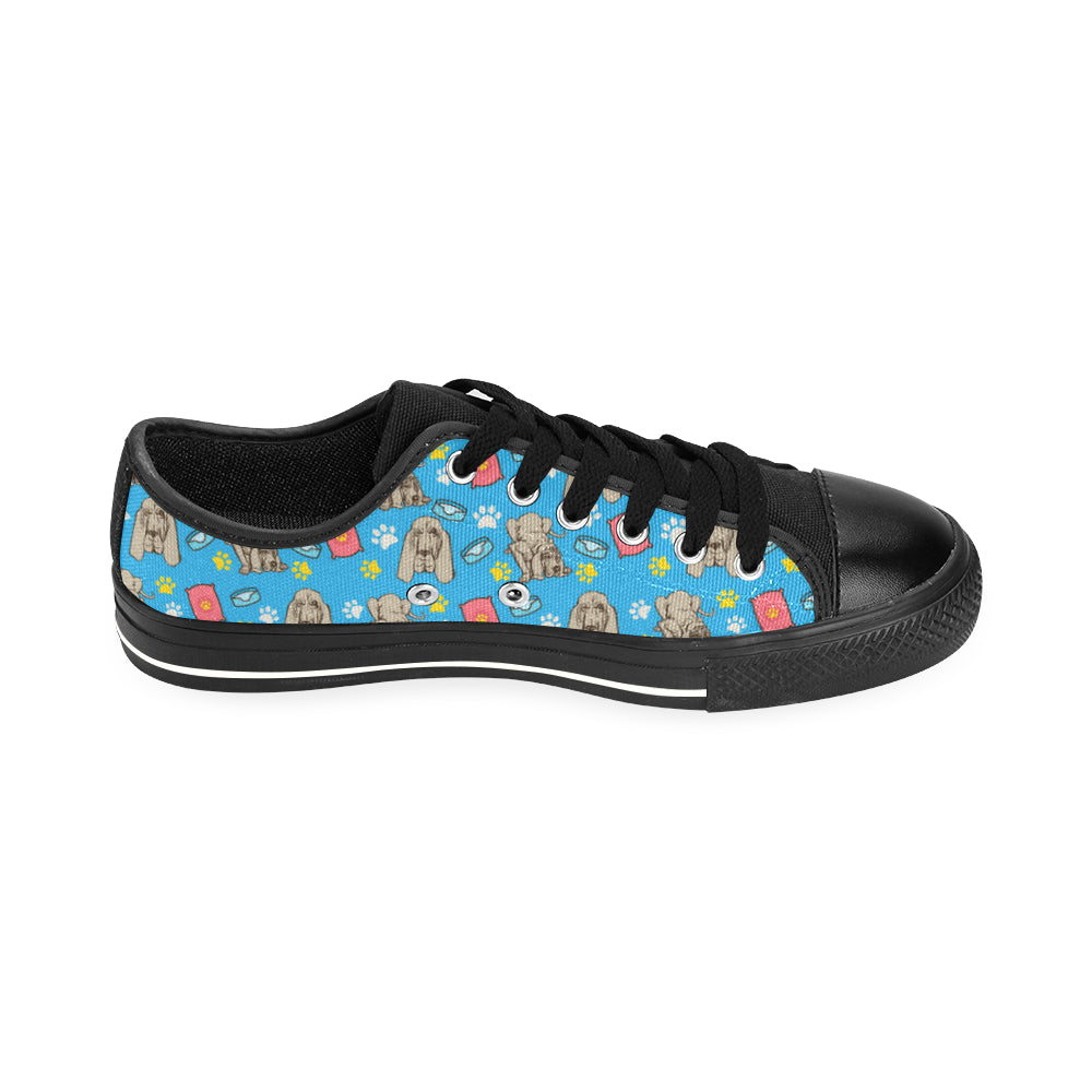 Bloodhound Pattern Black Men's Classic Canvas Shoes/Large Size - TeeAmazing